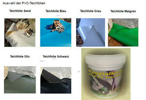 teichfolienkleber reparaturset f r teichfolie 1 0 mm pvc folie teich kleber ebay. Black Bedroom Furniture Sets. Home Design Ideas