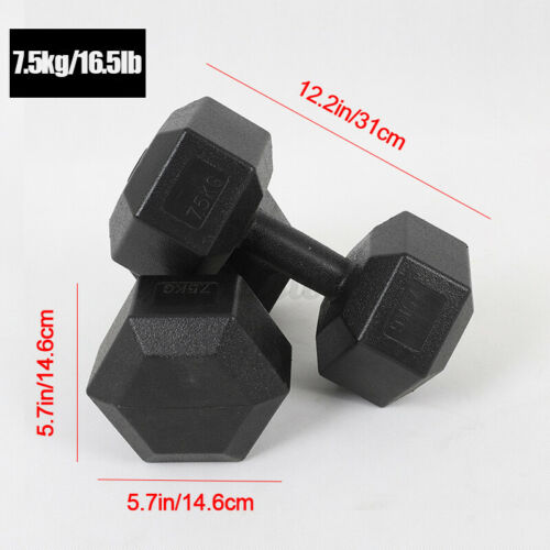 Dumbbell Set Hexagon Dumbbell Home Exercise Kids//Ladies//Men in 2x5kg//7.5kg//10kg