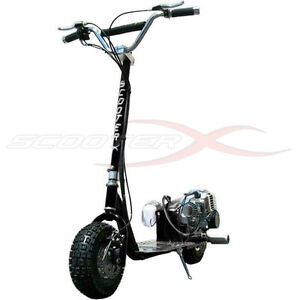 Go fast 49cc gas race scooter motor chrome engine mo ped for Gas powered motorized scooter