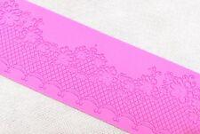 Pink Lace Flora Silicone Mold Sugar Craft Fondant Cake Decorating Baking Pad Mat