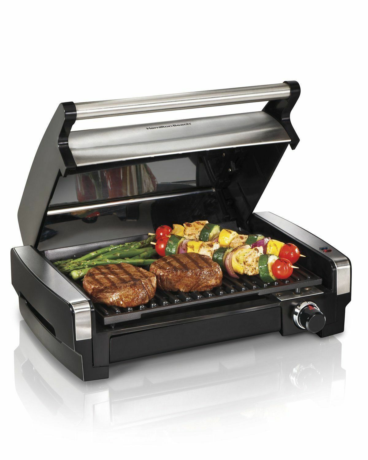 Hamilton Beach Searing Grill En Acier Inoxydable