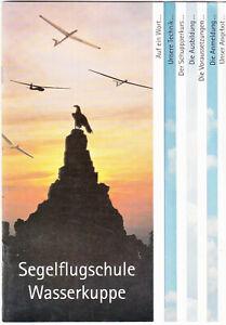 Wasserkuppe Segelflugschule Gebührenordnung 1996 Broschüre