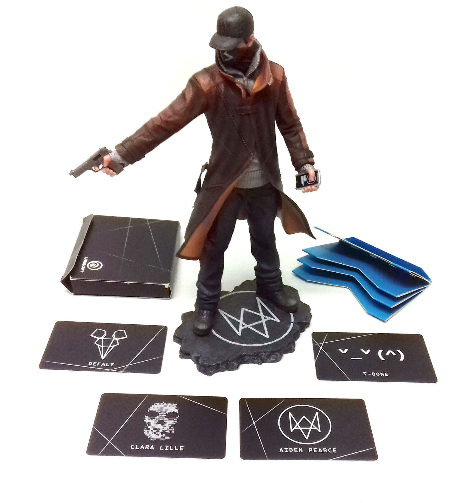 Ubi Soft WATCHDOGS DEDSEC 10  video Game figure statue with cards & box NO GAME