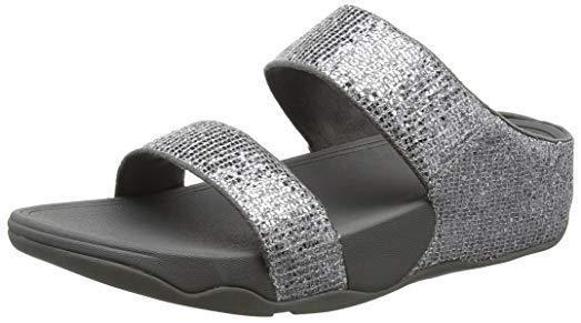 0fbc65e58 NEW FitFlop Silver Lulu Superglitz Slide Sandals