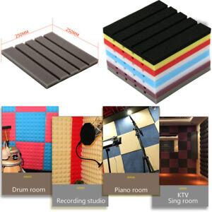 Soundproof-Acoustic-Wedge-Studio-Panel-Foam-Board-Sound-Absorption-Sponge-Tiles
