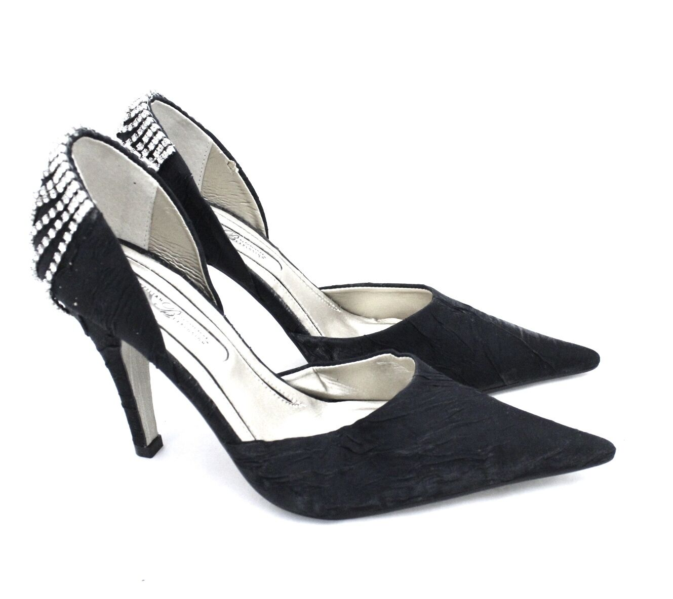 i nuovi stili più caldi Gracienne 7B NEW Evening Heels 4  Stiletto Point Point Point Toe nero Rhinestone Heels  398  acquisti online