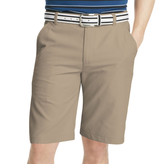 75a96fb1d10a Izod Golf The Swingflex Men's Stretch, Wicking, UPF 40 Shorts. Flat Front  $60