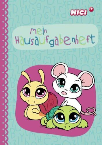 NICI 35889 Hausaufgabenheft Din A5 Sweet Hearts Maus Schildkröte Schnecke
