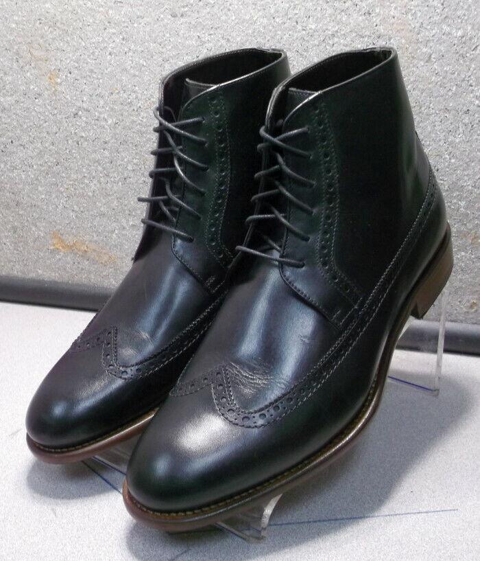 241807 esibt 60 Zapatos de hombre M Negro Cuero Hecho en Italia Johnston & Murphy