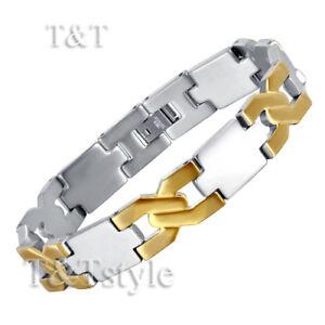 UNIQUE T/&T 316L Stainless Steel CROSS Bracelet NEW