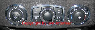 (ep) Mascherina Anelli Clima Utilizzo Alluminio Cromo Bmw Z4 E85 E86 -2009- Styling Aggiornato