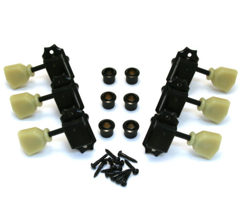 NEW Gotoh 3x3 Vintage TUNERS for Gibson Les Paul SG Black Keystones TK-0770-003