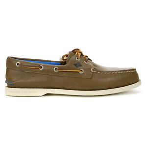 Sperry-Men-039-s-Authentic-Original-2-Eye-Plush-Brown-Boat-Shoes-STS19261-NEW
