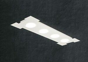 Plafoniere Da Palo A Led : Plafoniera moderna led rettangolare lampada in metallo bianco big