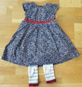 JoJo-Maman-Bebe-Blade-and-Rose-18-24-months-girl-leggings-formal-dress-Christmas