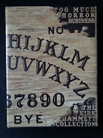 Signed & Dated Too Much Horror Business By Kirk Hammett Ouija Sdcc Metallica