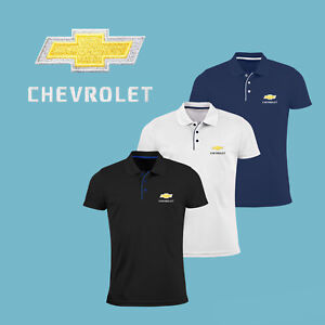 Chevrolet-Chevy-Slim-Fit-Polo-T-Shirt-EMBROIDERED-Auto-Car-Logo-Tee-Gift-Mens