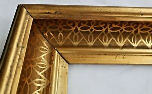 """Antique Fits 10 x12"""" Gold Gilt Picture Frame Stencil Wood Gesso Fine Art Country"""