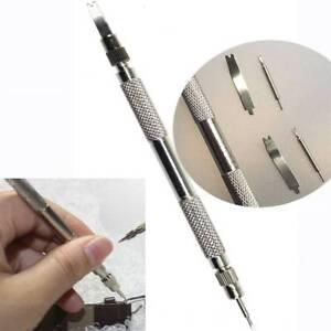 Metal-Watch-Band-Strap-Spring-Bar-Link-Pin-Remover-Removal-Repair-Tool-amp-4-Pins