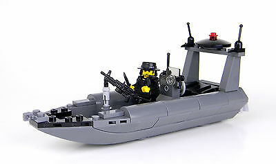 Navy Seal Boat RHIB Attack Made With Real LEGO® Bricks