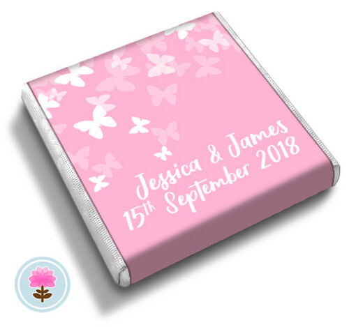Personalised BUTTERFLIES Summer Wedding Party Celebration FAVOUR CHOCOLATES