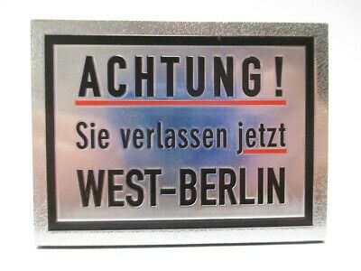 GemäßIgt Berlin Laser Magnet 8 Cm Souvenir Germany Sie Verlassen West Berlin