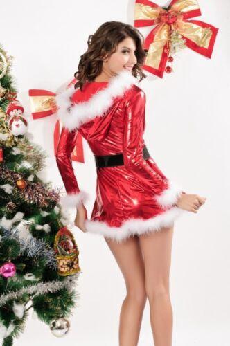 Miss Noël costume noël femme rouge Père Noël Costume elfe déguisement 8 10