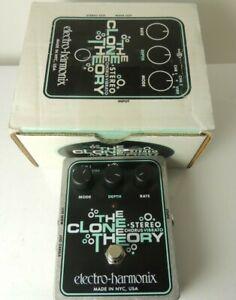 Electro Harmonix Stereo Clone Theory Chorus Vibrato FX Pedal  Free USA Ship