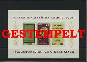 Germany-GDR-vintage-yearset-1968-Mi-Block-27-Postmarked-Used-More-See-Shop