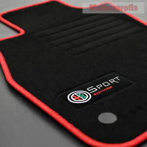 Velours Edition Fußmatten 4-teilig für Alfa Romeo Mito ab Bj.09//2008-2016 sw