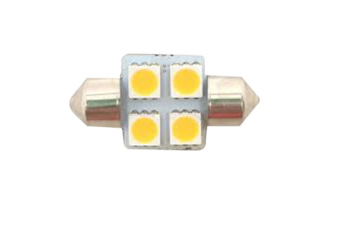Pactrade Marine 4pcs LED Bulb Festoon Type 12VDC 60LM Warm White 1 1//4 X 5//8/""