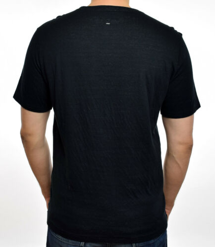 Rag /& Bone Mens Black Ivory Crew Neck Rigby Double Layer T-Shirt XS S M L XL