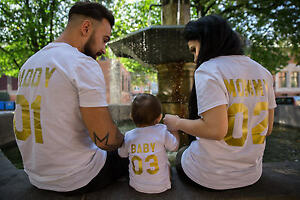 5c4805e1 Family T-shirts Mommy Daddy Kid Baby Matching Tees Mom Dad Daughter ...