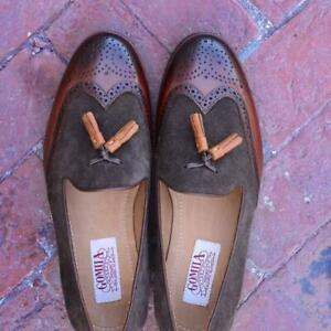 Slip-On-Men-Handmade-Tassel-Loafers-Wingtip-Casual-Party-Calf-Leather-Shoes