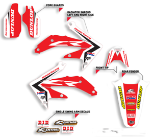 2003-2009 CR 85 GRAPHICS KIT HONDA CR85 DECALS STICKERS MOTOCROSS SEAT COVER