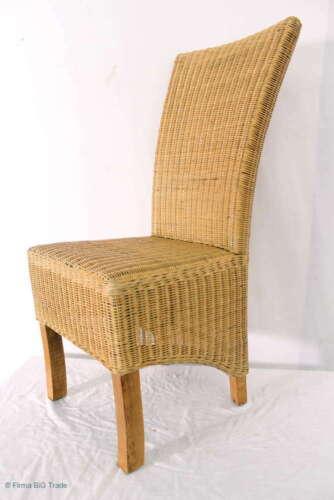 1 élégante chaise en rotin Chaise Chaise De Cuisine Table à manger Chaise Maison de campagne Style 8 existants