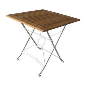 Flex Klapptisch 75x75 Gartentisch Holztisch Bistrotisch Akazie