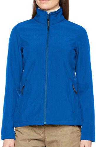Regatta Womens Softshell Jacket Blue Full Zip Showerproof Quick Drying 3XL UK 20