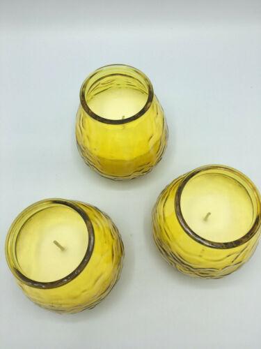 3 Duftkerzen im Glas │ XXL Kerzen │ Zitrone │ 75 Stunden Brenndauer