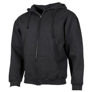 Kapuzen-Sweatshirtjacke-340g-m-Hoodie-Kapuzenpullover-Sweater-Jacke-schwarz