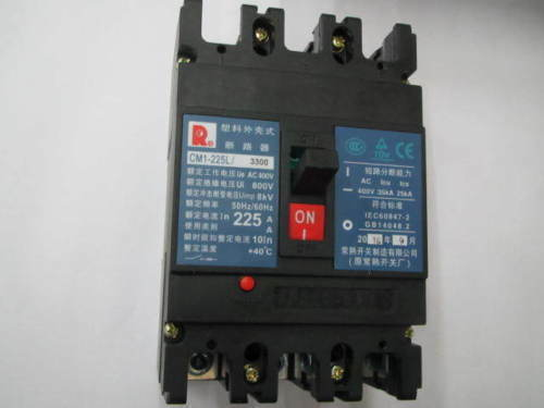 Fst  New  Changshu  CM1-225L 3300 3P 225A  circuit  breaker  free shipping