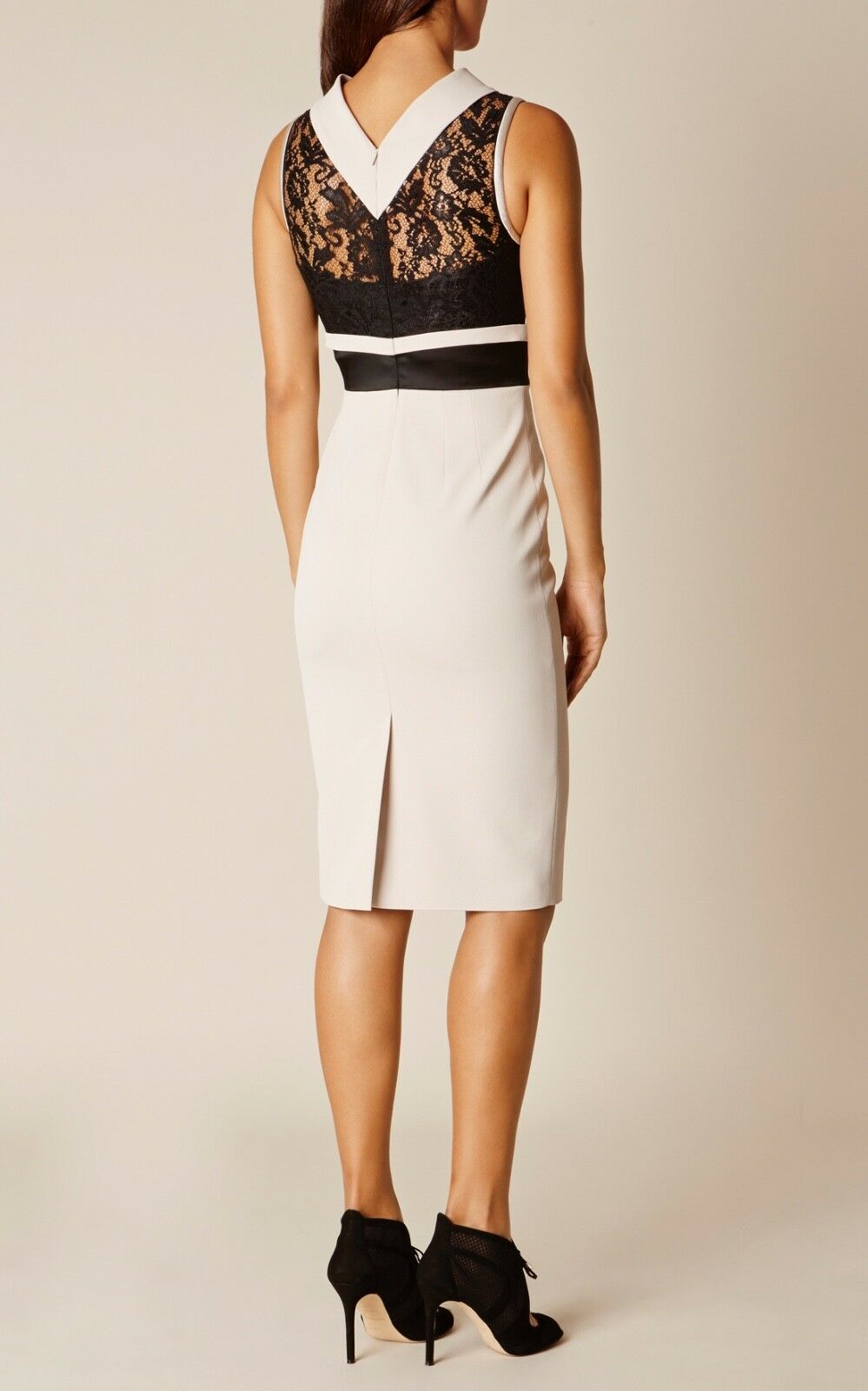 Karen Millen Dress , Größe 8 , Ivory and Lace  DZ179