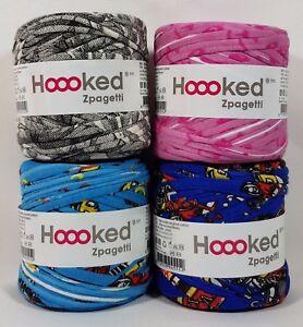 Hoooked Zpagetti 4 X Baby Cones Bunt Neu Stoffgarn Hookedhäkeln