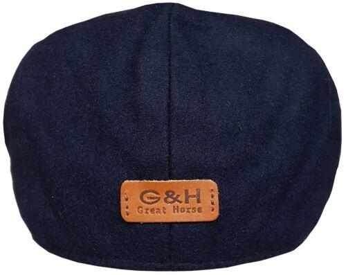 Da Uomo o Ragazzo Berretto piatto Nuovo Baker boy cappello di lana di buona qualità cappello da Strillone picchi Cap