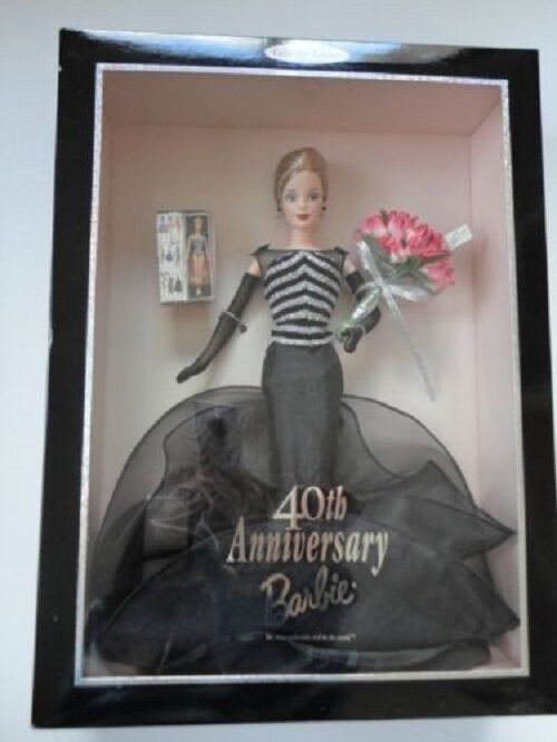 Barbie Collectibles 40th Anniversary Barbie  Doll 1999 Mattel production  21384