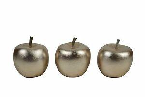 Champagne Colour Set x 3 Lacquerware Pear Ornaments