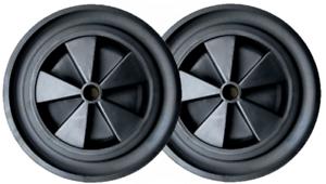 """Pack de 2 brouette Barrow 12 /""""noir fin roue solide 1/"""" Alésage 50mm chariot"""