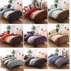 US-Microfiber-Duvet-Cover-Bedding-Sets-Pillowcases-Twin-Double-Queen-King