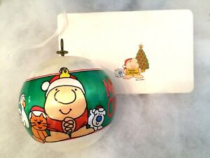 Vintage-1982-ZIGGY-amp-Friends-Christmas-Ornament-and-Christmas-Card-Tag