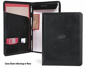Gemline Executive Vintage Black Leather Writing Pad Folio - New